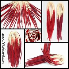 "wool dreadlocks ""Bloody Rose"" 10 pieces"