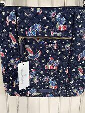 Vera Bradley Iconic Hipster Crossbody Holiday Owls Shoulder Bag F9