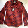 G-STAR RAW MEN'S 'WOLKER SHIRT' L/S FLANNEL SHIRT CHECKED LARGE SLIM
