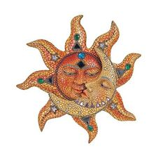 George S. Chen Imports Polyresin Orange Mosaic Face Sun with Yellow Mosaic Mo...