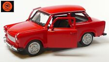 Trabi-Jubiläum 2014: 50 Jahre Trabant 601 Modellauto 11cm WELLY Sonderfarbe rot
