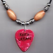 Keith Urban Pink Pearl Guitar Pick Necklace - 2013 Light the Fuse Tour
