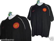 Nike Manchester United Calcio Maglietta Polo di cotone Nero XL