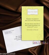 THE KNOT WEDDING COLLECTION SAVE THE DATE CARDS (20) ~ Wilton Party Supplies