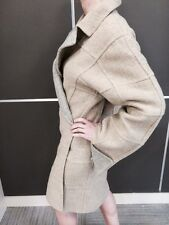 FENDI REVERSIBLE BEIGE GRAY WOOL COAT FALL WINTER   Made in Italy  SZ L