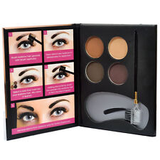 Beauty Treats Perfect Eyebrow Powder Kit 3 Stencils 1 Brush Applictor 4 Powders