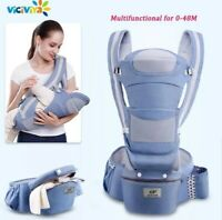 0-48M Ergonomic Infant Baby Carrier With Hip Seat Adjustable Wrap Sling Backpack