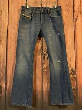 Diesel Industry Zathan Mens Blue 4 Button Fly Jeans Size 30 X 30 (act 32 X 30)