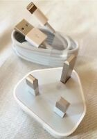 Genuine Official Apple Mains Plug & USB cable Charger for iPhone 6 5S 5C 5 iPad