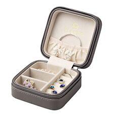Vlando Small Faux Leather Travel Jewellery Box Organisers Display Storage Case f