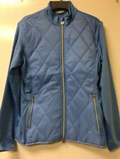 CALLLAWAY WOMENS MIXED MEDIA QUILTED GOLF JACKET, SIZE SMALL