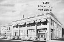 Lincoln Nebraska Bible Broadcast Office Studio Vintage Postcard K45353