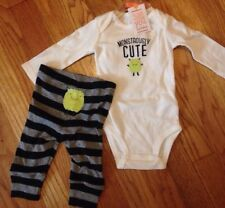 New Carters 1st 3 Months Halloween Outfit Monster Pajama Bodysuit Costume Pants