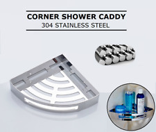 304 Stainless Steel Corner Shower Basket Caddy Organizer Storage Rack Shelf Bath