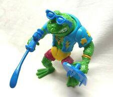 Vtg TMNT Ninja Turtles GENGHIS FROG  Action Figure w Accessories-1989 Playmates
