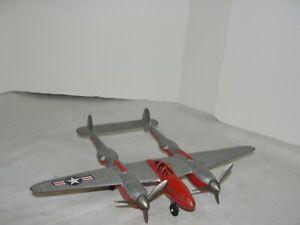 VIntage Hubley WWII P-38 Propeller Fighter Airplane