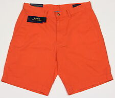 Men's POLO RALPH LAUREN Orange Twill Chino Shorts 35 NWT NEW Classic Fit 9""