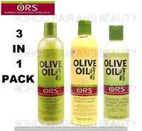 ORS OLIVE OIL SHAMPOO, REPLENISHING CONDITONER & OIL MOISTURIZING HAIR LOTION