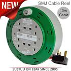 10 Metre Cable Cord Extension Lead Reel By SMJ│10A 4-Socket UK│For Home & Garden