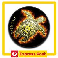 2019 Hawksbill Burning Turtle 1oz .999 Black Ruthenium & Gilded Silver Coin