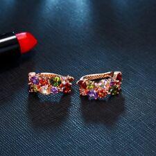 Silber Ohrringe 75% Rabatt auf Morganit Amethyst Granat Peridot 925 Sterling WS6