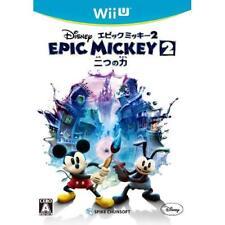 Used Wii U Disney Epic Mickey 2: Two Power Japan Import