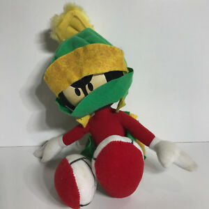 """AUTHENTIC Looney Tunes MARVIN The MARTIAN Plush 30cm POSEABLE 1994 Applause 10"""""""