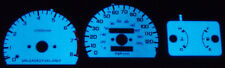 Usa 90-91 Honda Crx Cr-X Ef Blue / Green Glow Gauges Si Face Overlay New