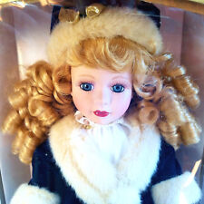 """Brass Key Victorian Doll Pearls & Lace 1999 Limited Edition Porcelain 16"""" - New"""