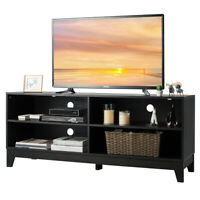 "58"" Modern Wood TV Stand Console Storage Entertainment Media Center Espresso"