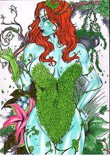 DC Comics Sexy POISON IVY Original Art BATMAN GOTHAM ROBIN HARLEY QUINN CATWOMAN