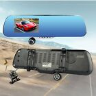 "1080P HD 4.3"" Dual Lens Car Rearview Mirror DVR Dash Cam Video Camera Recorder"