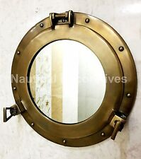 "15"" Canal Boat Porthole Window Antique Finish~Wall Hanging Mirror Porthole"