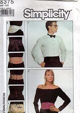 1980s Simplicity Sewing Pattern 8375 Adult Set of Belts Cummerbund One Size