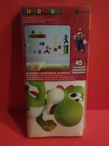 Super Mario Peel And Stick Wall decals 45 stickers New Roomates