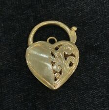 NEW 9ct Yellow Gold Padlock Pendant 375 Lock 9KT Free Post Options 9K Filigree