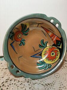 Vintage Made In Japan Peach Lustreware 2 Handle Bowl