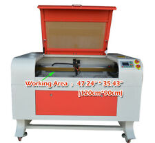 110V100W CO2 Laser Engraving Cutting Machine Engraver Cutter Chiller 1290