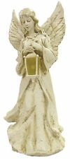 Outdoor Garden Solar Powered Angel & LED Lantern Memorial Grave Gravestone Gift