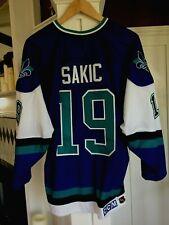 Quebec Nordiques Joe Sakic 95/96 The Shelved Wolf Jersey sz 52