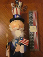 Pier 1 Xl 2Ft July 4Th Glitter Uncle Sam Bobble Head Metal & Pottery Barn Straws