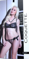 a5d57ccecc Coquette Midnight Affair Lacy Demi Bra with Thong