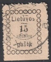 Lithuania 1918 Mi 4, Used, #2