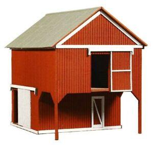 "HO Scale - LOFT BARN  ""LASER CUT WOOD Building KIT"" AME-794"