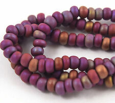 "Czech Glass Seed Beads Size 6/0 "" LIGHT BROWN MATTE AB "" Strands"