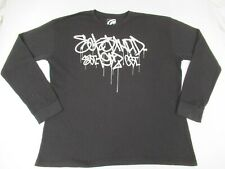 ECKO UNLTD - DRIPPING PAINT LETTERING - LONG SLEEVE - 2XL BLACK T-SHIRT - D526
