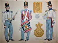 Stadden Original Watercolour King's Own Regiment (4th Foot) Charles C. Stadden