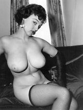 Loraine Burnett 1960s Huge breasts fishnets vintage nude Pinup 8 x 10 Photograph