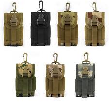 Universal Army Camo Bag for Mobile Phone Belt Loop Hook Cover Holster Case Men