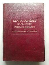 #1 ENCYCLOPÉDIE socialiste. les fédérations socialistes III Quillet 1921